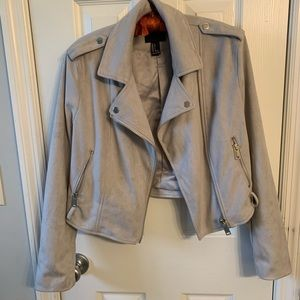 Suede jacket gray